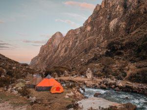 santa cruz trek huaraz peru campsites