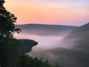 sunrise whitaker point ozark national forest