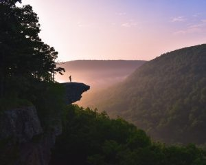 ozark national forest hawksbill crag sunrise hike