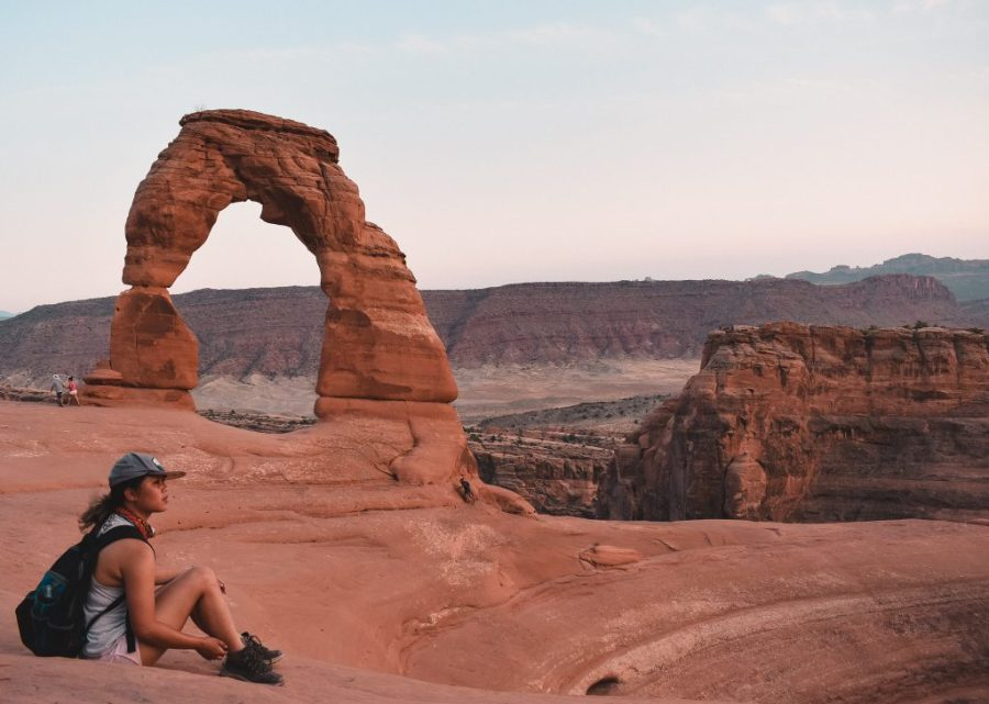 arches national park sunset hike