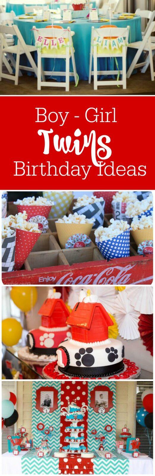 birthday party ideas for boy girl twins