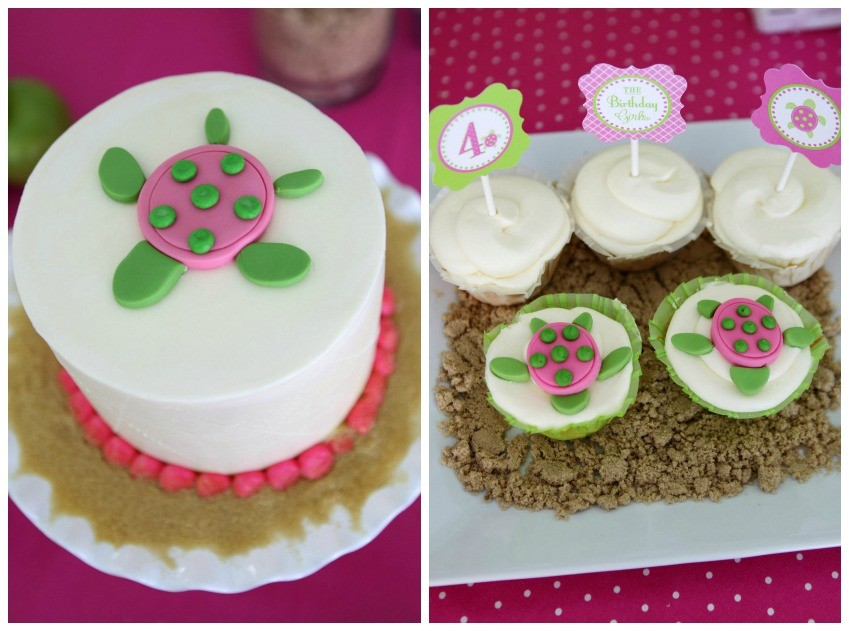 Guest Party Pink And Green Sea Turtle Pool Birthday Party