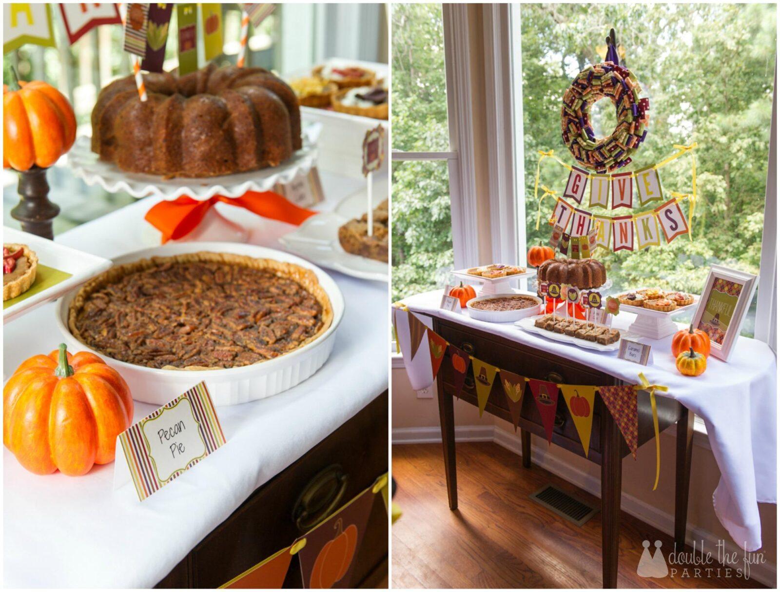 Dfp Thanksgiving Pecan Pie Dessert Table