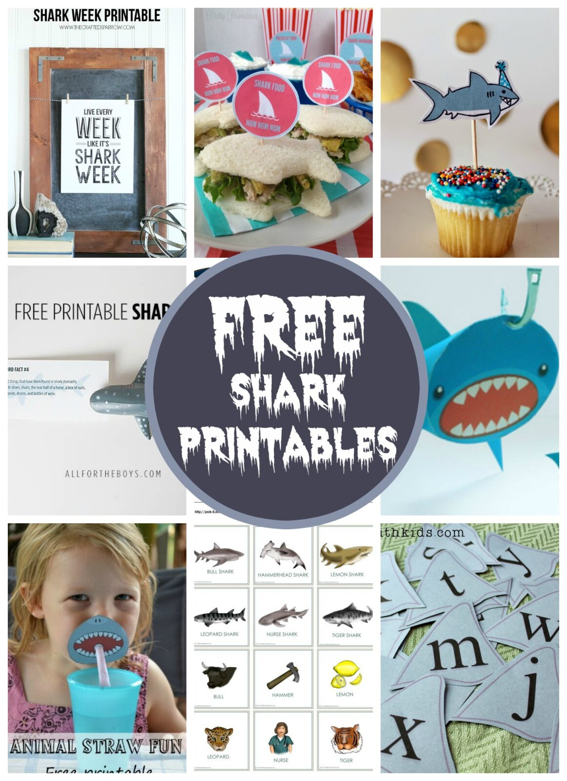 10 Free Shark Printables By Double The Fun Parties