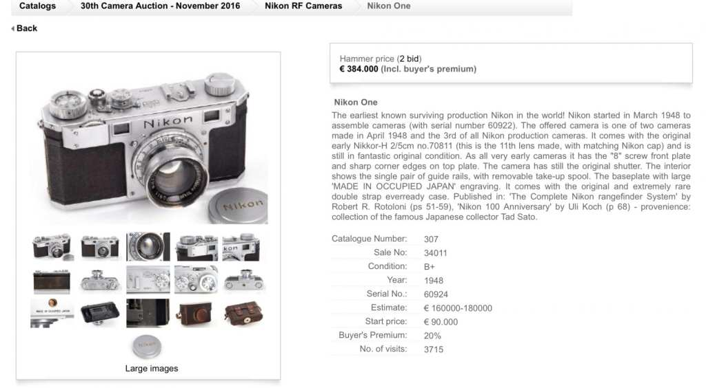 nikon1auctionrecord