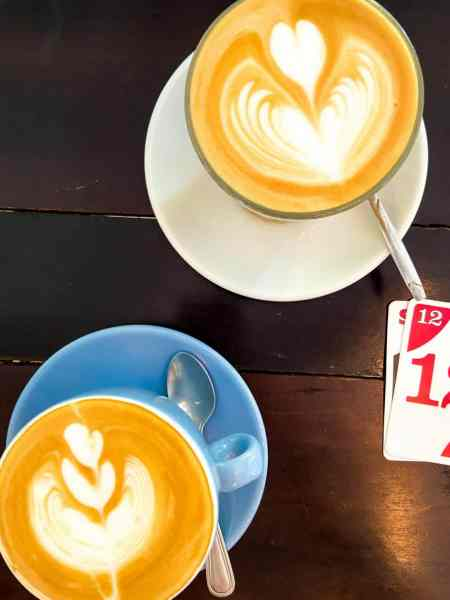Flat White and Latte at The Hive Siem Reap