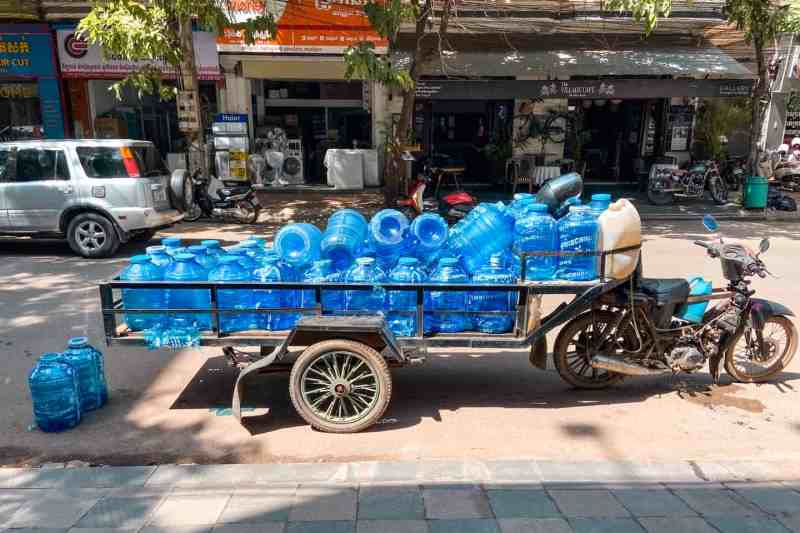 Drinking Water jugs delivered on cart