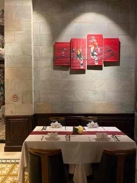 Dining Table at Malis Restaurant Siem Reap