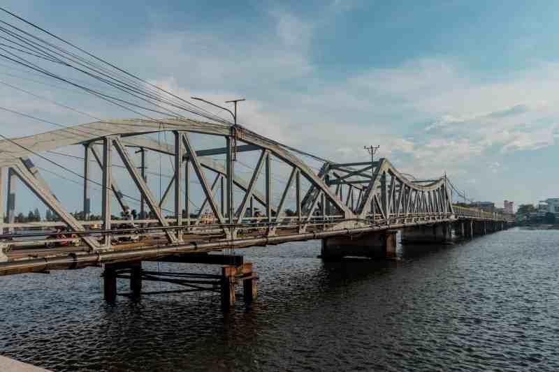 The Old French Bridge in Kampot, Cambodia