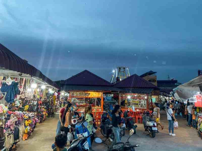 Night Market in Kampot, Cambodia