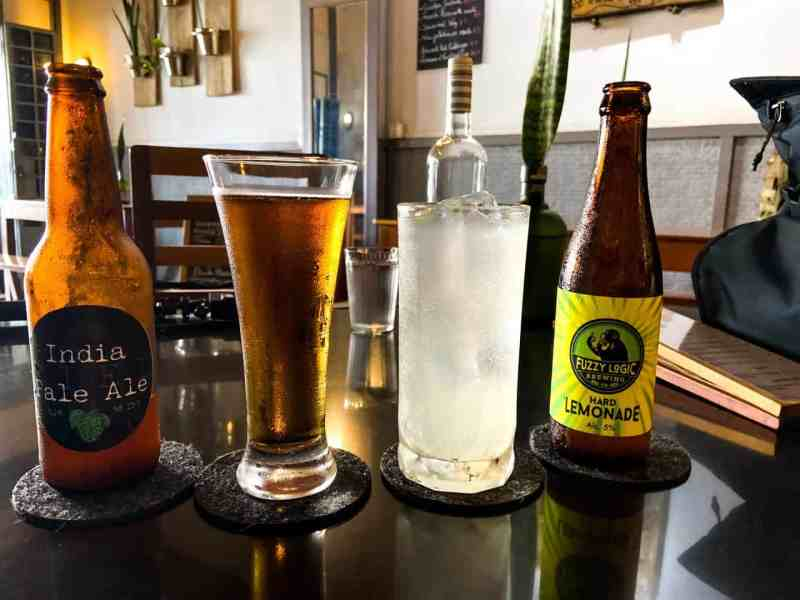 Riels India Pale Ale & Fuzzy Logic Hard Lemonade at Twenty Three Bistro