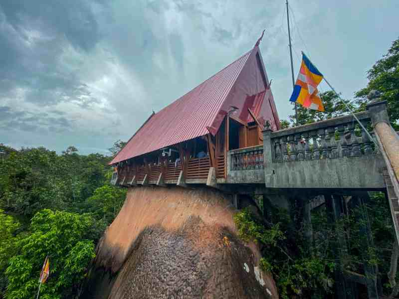 Reclining Buddha Carved into Mountain - Kulen Mountain