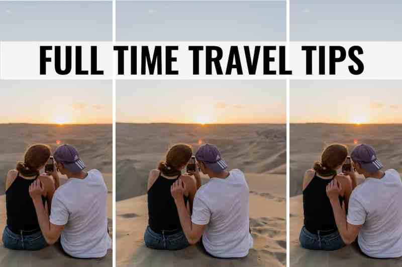 full time travel tips
