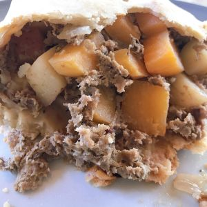 pasty, pasty review, pasties, pasty guy, shier's deli, midland