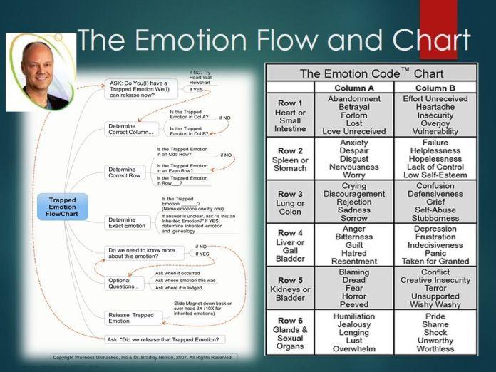 the emotion code flowchart