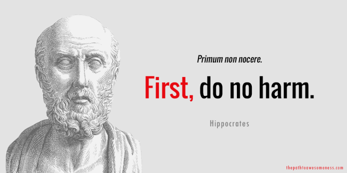 hippocrates quote first do no harm