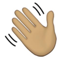 waving hand emoji