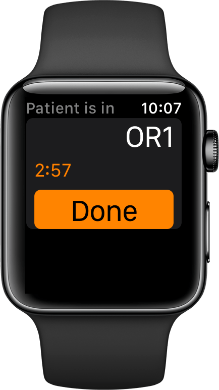 When the assignment is complete, the doctor can notify the charge nurse which allows for a quicker room turn over