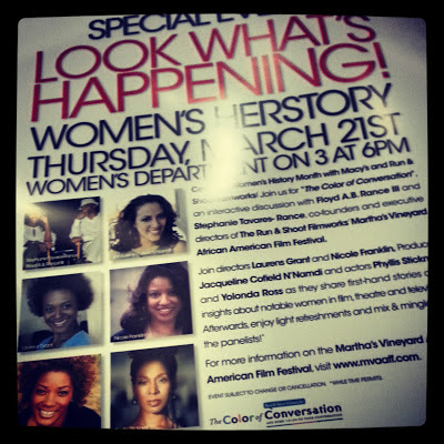 Women's HerStory at Macy's Martha's Vineyard African American Film Festival