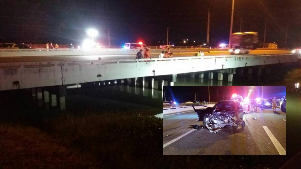 One dead, two injured after car crashes into prior accident and good Samaritan helping the injured - The Pattaya News