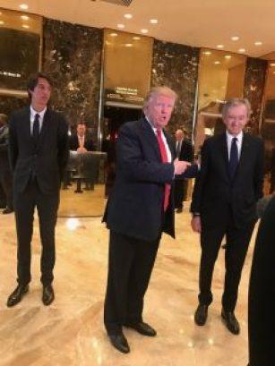 President-elect Trump with Bernard Arnault