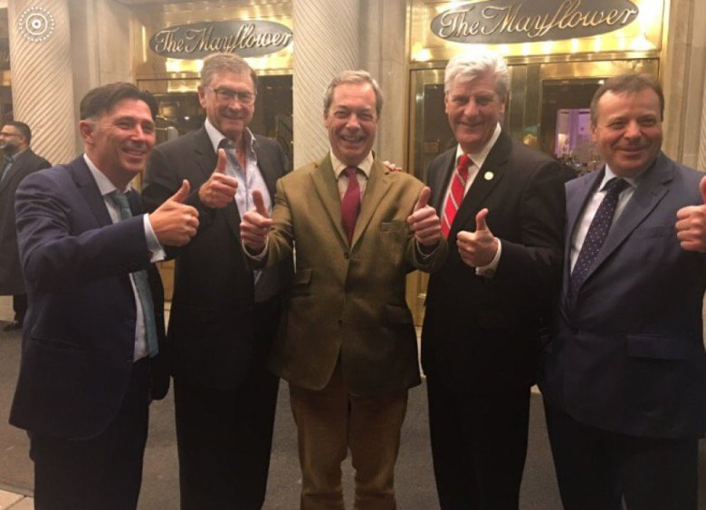 Andy Wigmore, Lord Ashcroft, Nigel Farage, Governor of Mississippi Phil Bryant, Arron Banks