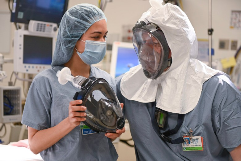 Two Anesthesiologists Field Test the MasksOn.org Reusable Mask Kit