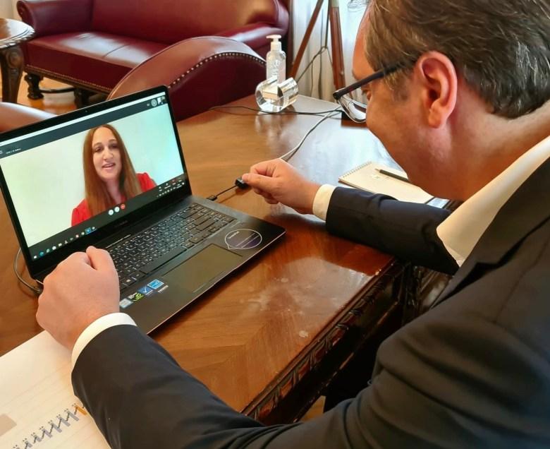 White House Correspondent Ksenija Pavlovic Mcateer interviews Serbian President Vucic