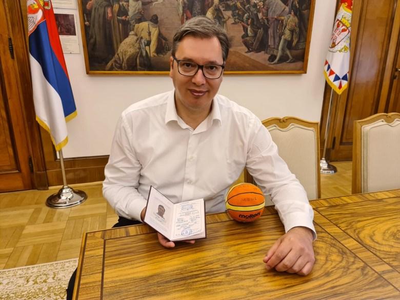Serbian President Aleksandar Vucic has enrolled in a sports college