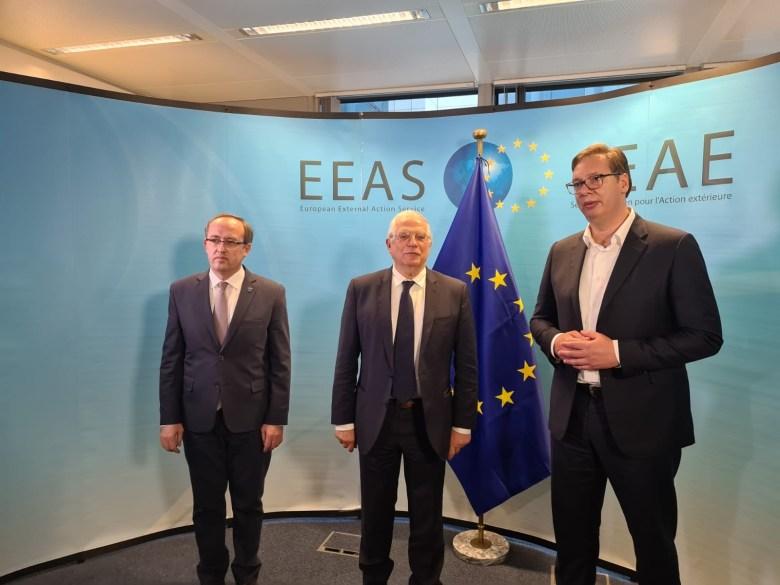 The Brussels talks on Kosovo ( Photo credit: TANJUG)