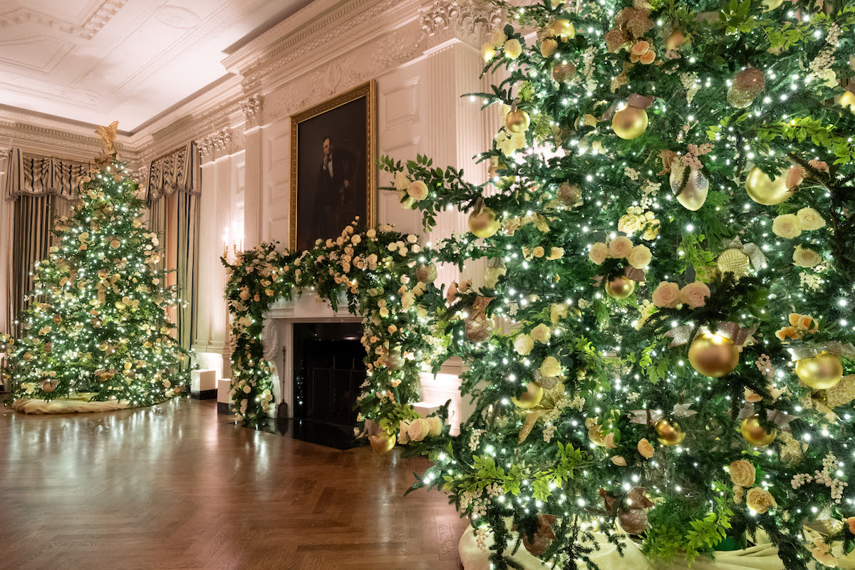 The State Dining Room of the White House is decorated for the Christmas season Sunday, Nov. 29, 2020. (Photo by Andrea Hanks)