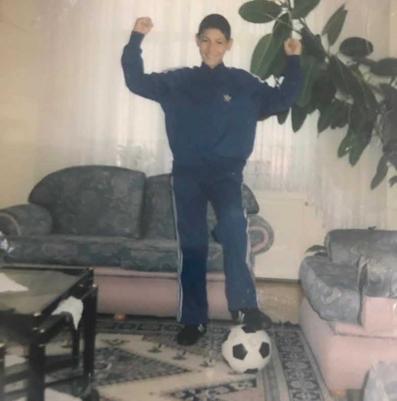 Enes Kanter as a child at his home in Turkey ( Photo: courtesy of Enes Kanter)