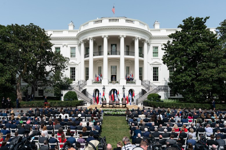 The Abraham Accords Signing Ceremony Tuesday, Sept. 15, 2020, on the South Lawn of the White House (Photo by Joyce N. Boghosian)