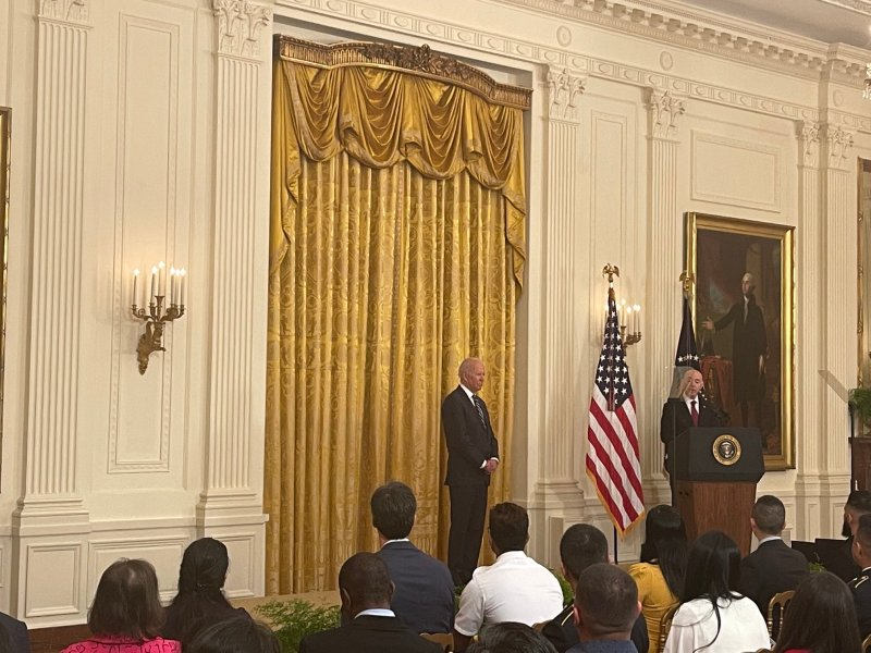 President Biden in the East Room