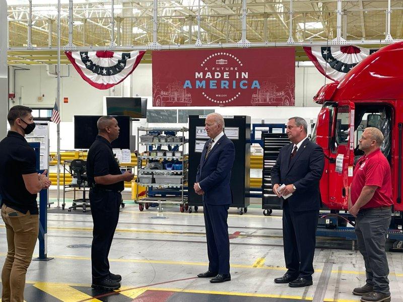 President Joe Biden on Buy American tour (Photo credit: Meghan Hays)