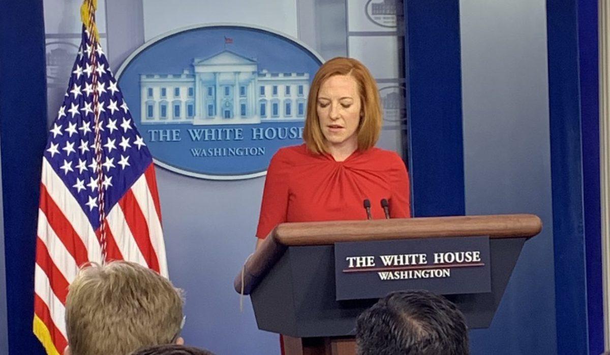 Jen Psaki holds a press briefing