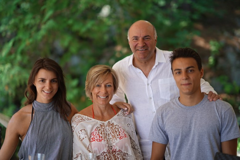 Kevin O'Leary : Happy life is a balance of family, friends.