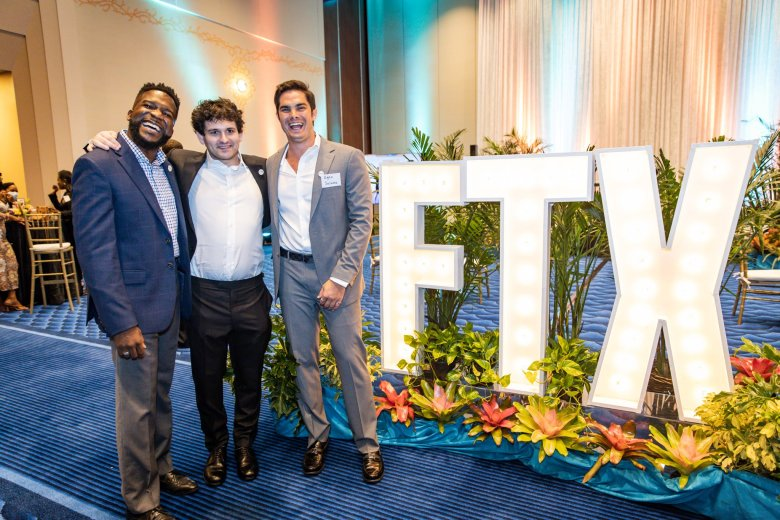 Sam Bankman-Friend with his team celebrate being registered by the Securities Commission of The Bahamas as a digital assets business under the Digital Asset Registered Exchanges Bill.