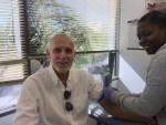 image of PCAP CEO Robert Warren Hess taking PSA blood test at Labcorp