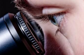 microscope and eye