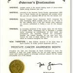 State of South Carolina, Prostate Cancer Awareness Proclamation