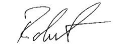 robert signature
