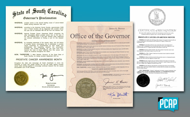 PCAP State Proclamations for Prostate Cancer Awareness Month