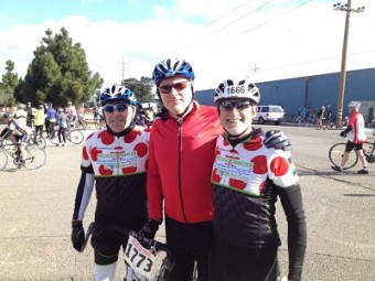 Robert Warren Hess and board members at Solvang Century bicycle ride