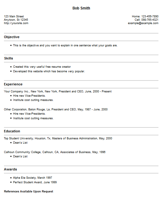 Create And Download Free Resume Online. Cv Maker Resume And Resume
