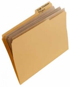A Manilla Folder, containing some Files.