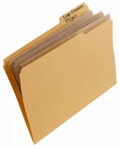 A Manilla Folder, containing some Files.