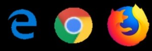 Edge, Chrome and Firefox