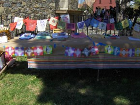 Slater Mill Peace Flag Table
