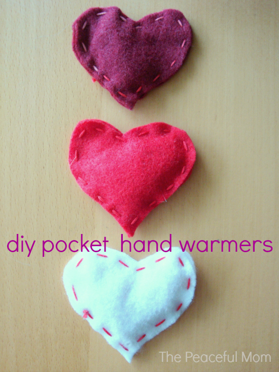 Valentine Craft DIY Pocket Hand Warmers The Peaceful Mom